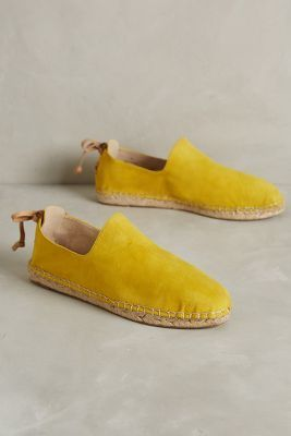 House of Harlow Callan Espadrilles Yellow Flats #anthrofave