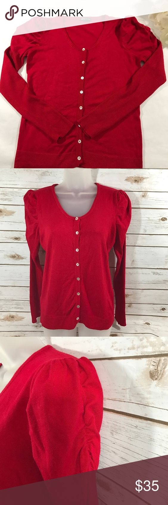 MNG Red sweater | D, Sweater cardigan and And then