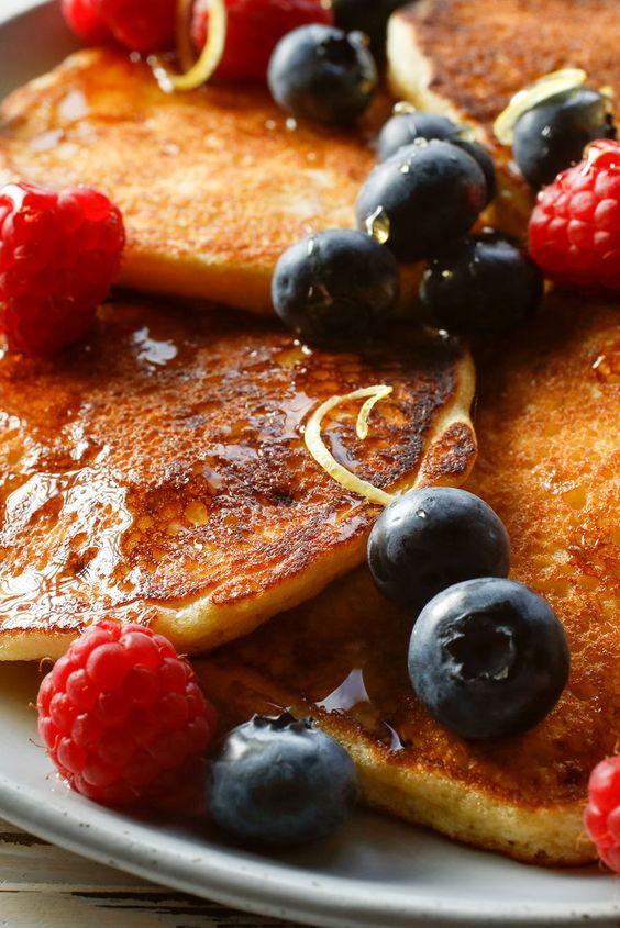 Lemon pancakes, Pancakes and Cottage cheese on Pinterest