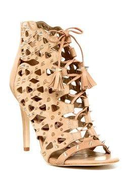 Allison Spiked Cutout Heel Sandal