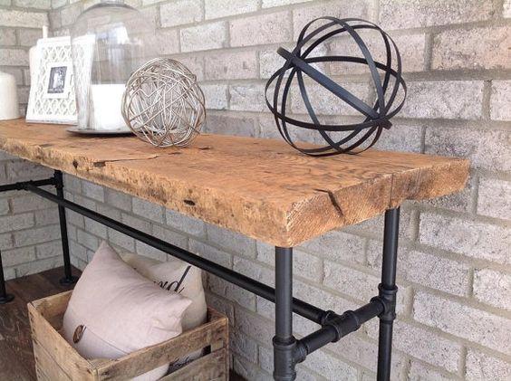industrial sofa table reclaimed barn wood industrial sofas reclaimed barn wood and industrial. Black Bedroom Furniture Sets. Home Design Ideas