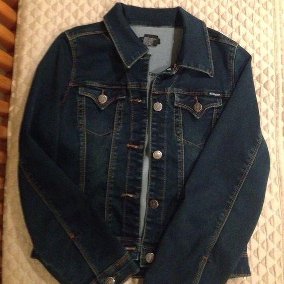 Tractor denim jacket Soft denim dark wash jacket - girls size M tractor Jeans