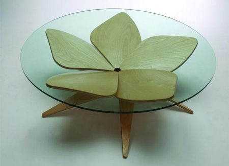 Flower CoffeeTable:  Love the soft and hard edges...