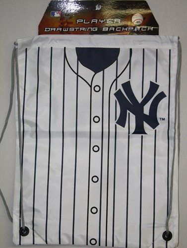 New York Yankees MLB Logo Drawstring Backpack by Forever Collectibles. $9.95. Screen-printed team logo in team colors. Officially licensed. High-strength drawstring cinch closure. Durable, water resistant nylon fabric. Can be worn over one shoulder or over both shoulders like a traditional backpack. This drawstring Back Sack - Backpack from Forever Collectibles is large enough to be practical, but light enough to carry comfortably. Features durable, water resistant nylon fabr...