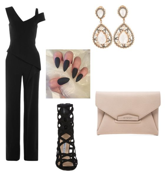 """Untitled #44"" by jrock43 ❤ liked on Polyvore featuring Roland Mouret, Manolo Blahnik and Givenchy"