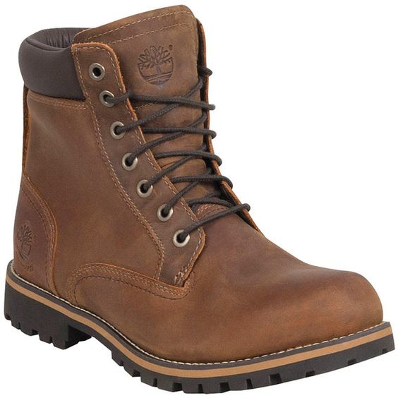 Timberland Men's Earthkeepers 6-Inch Rugged Waterproof Boot ($180) ❤ liked on Polyvore featuring men's fashion, men's shoes, men's boots, men's work boots, brown, mens brown work boots, mens brown boots, mens lace up boots, mens rugged leather boots and mens fur lined boots