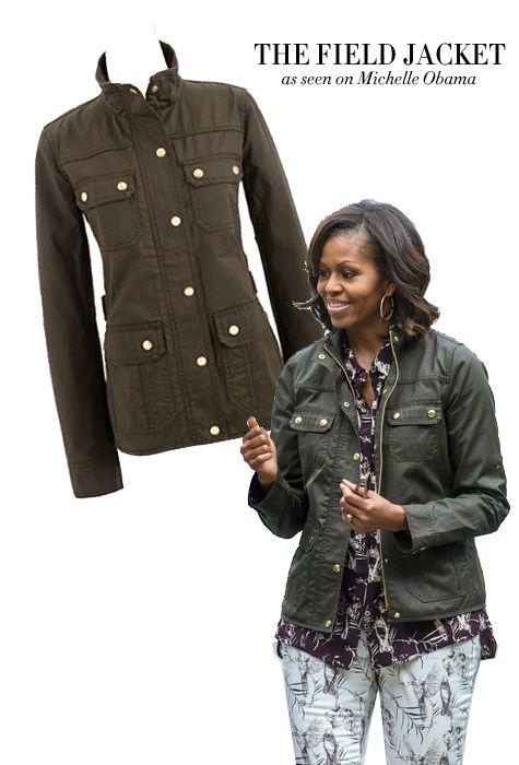 J Crew Field Jacket | Michelle Obama