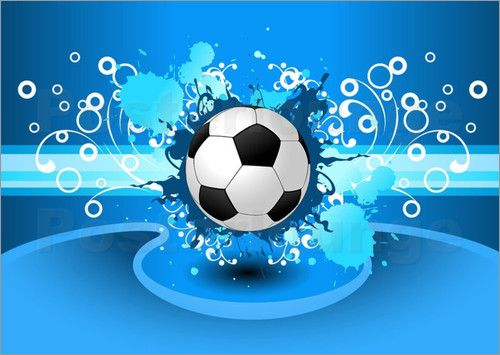Soccer Girls Wallpaper Free: Soccer Ball With Blues Fires