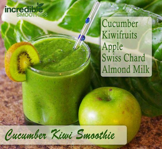 cucumber kiwi smoothie