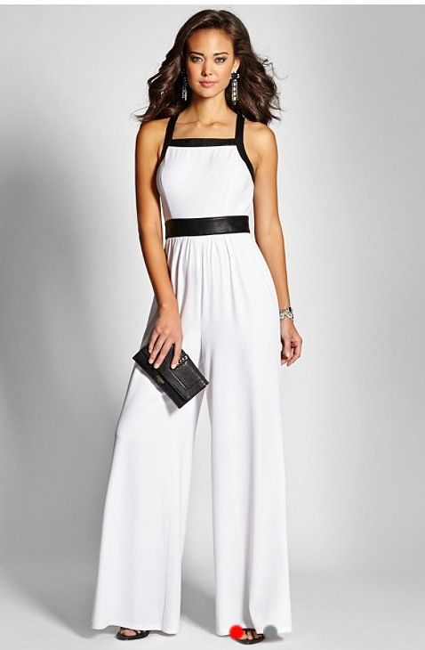 Black and white jumpsuit | White Party | Pinterest | Jumpsuits ...
