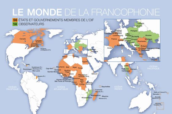 Francophone countries: