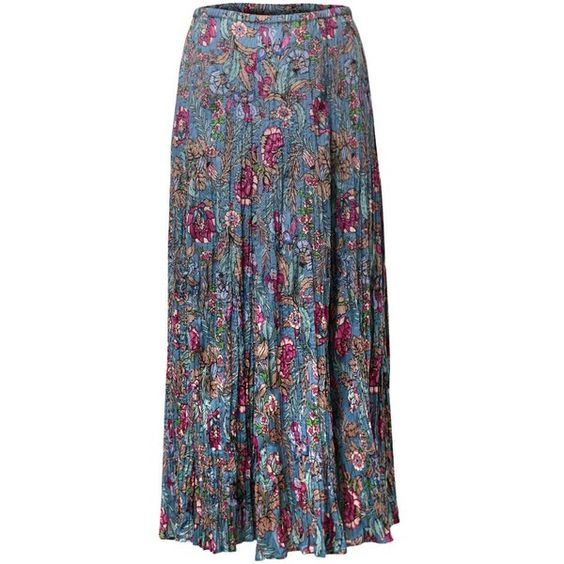 East Georgina Crinkle Skirt ($60) ❤ liked on Polyvore featuring skirts, blue, women, flower print skirt, blue floral skirt, cotton crinkle skirt, knee length a line skirt and cotton skirt