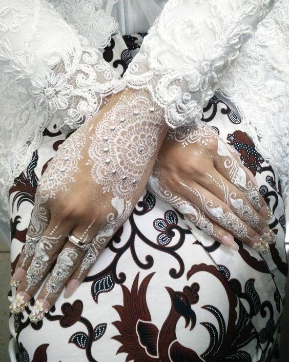 Gambar Henna Putih Pengantin