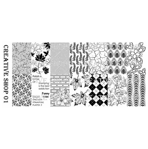 Creative Shop- Stamping Plate- 01