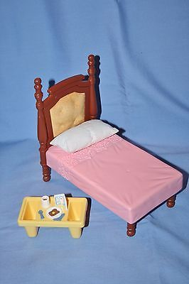 Fisher Price Loving Family Dollhouse DOUBLE POSTER BED Breakfast in Bed Parents  https://t.co/GD8TUoFvj2 https://t.co/1D6HumF4gZ
