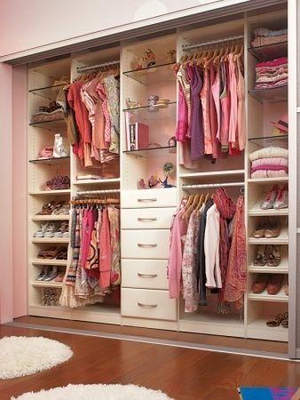 well-organized reach in closet; good idea for mine.