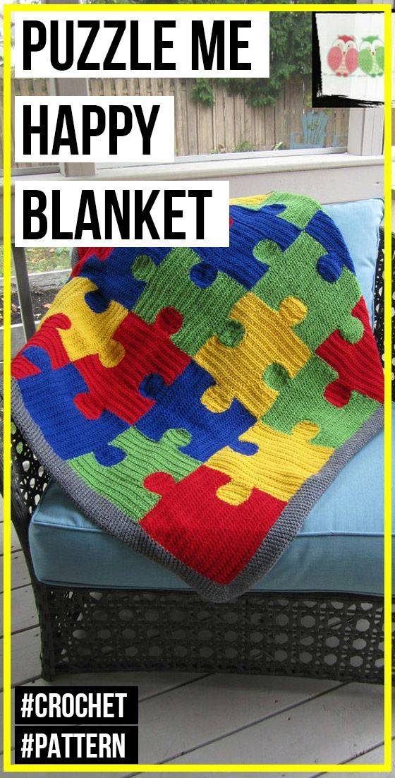 Puzzle Shapes in Multi-colors Fleece Baby Blanket