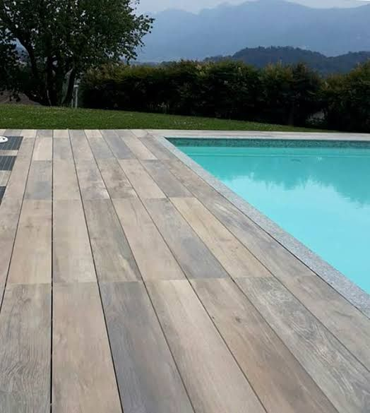 Pin By Stone Design On Concrete Paver Ideas In 2020 Backyard Building A Deck Pool Deck