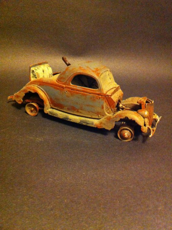36 Ford 3 Window Coupe Barn Find Model Car