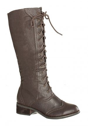 Brown Steampunk Lace Up Boots