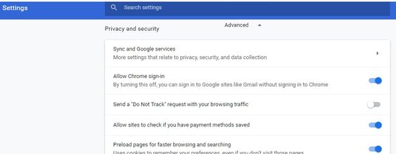 can't open AOL mail in Chrome- Privacy and security option