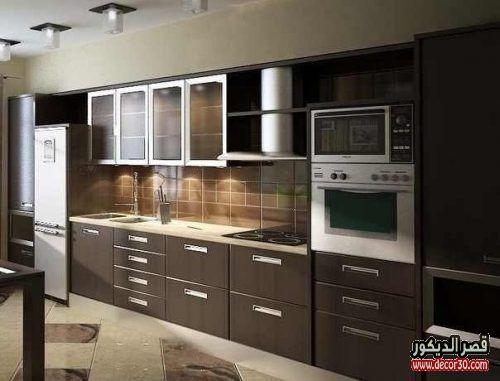 موديلات مطابخ المنيوم احدث اشكال مطابخ الوميتال 2019 قصر الديكور Glass Kitchen Cabinets Glass Kitchen Cabinet Doors Aluminum Kitchen Cabinets