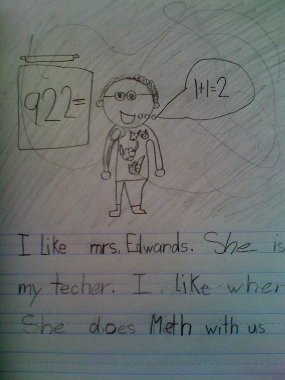 This site seriously made my day. Funny things kids put on tests and homework.
