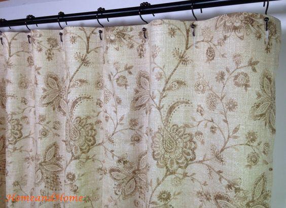 Fabric Shower curtain Robert Allen Nautica Reef Floral Sand brown ...