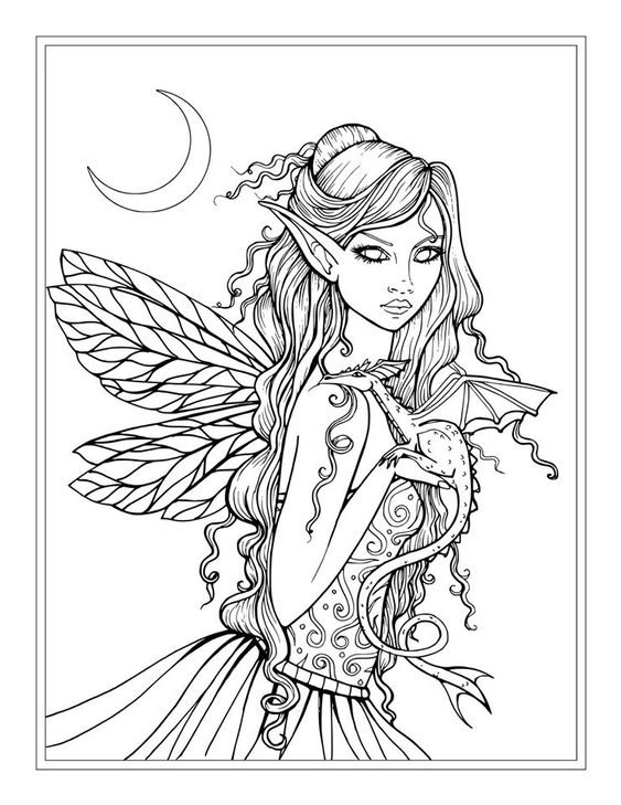 coloring pages of mystical angels - photo#1