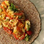 Scrambled Egg Veggie Taco