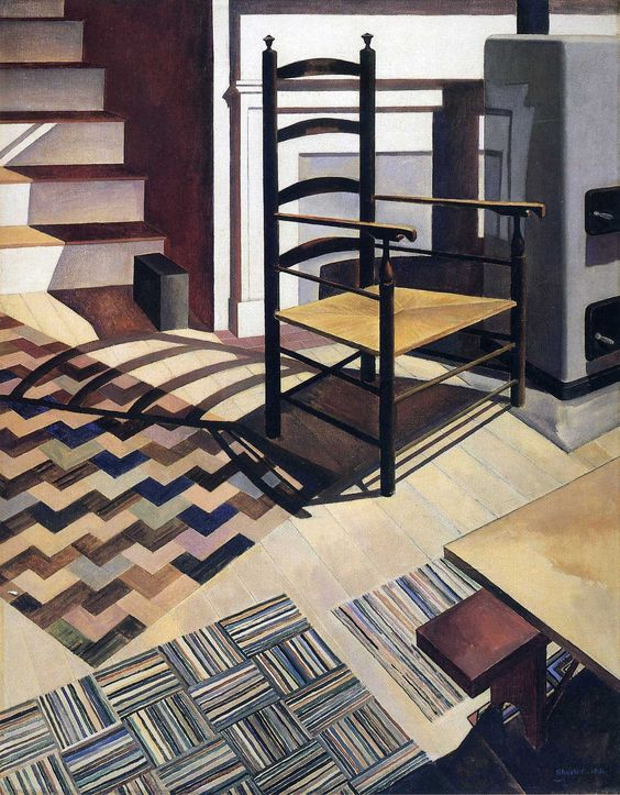 Charles Sheeler (American, 1883-1965), Home Sweet Home, 1931. Oil on canvas, 36 x 29 in. The Detroit Institute of Arts.
