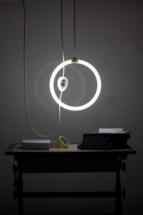 contemporary modern ceiling pulley lamp iguazu neon