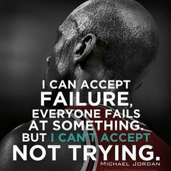 I can't accept not trying - Michael Jordan #gymexercises