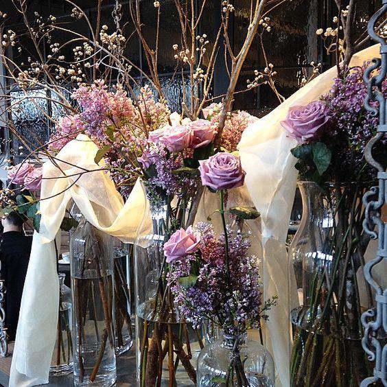 Beautiful flower arrangements by @ufgrangehall |