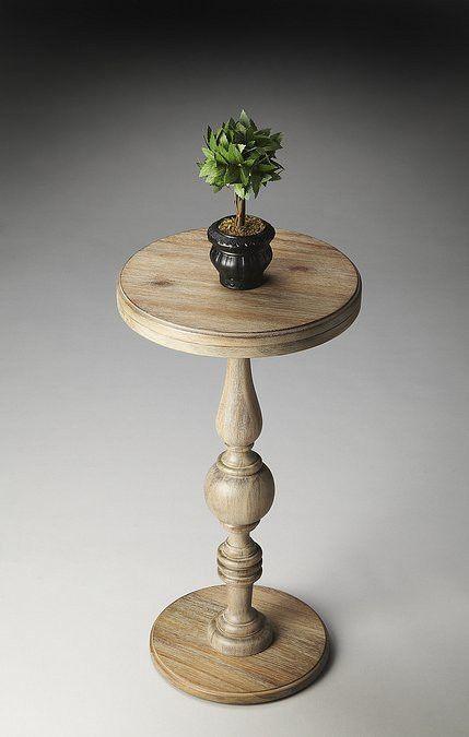 Butler Specialty Urban Gray Pedestal Accent Table - 2225284