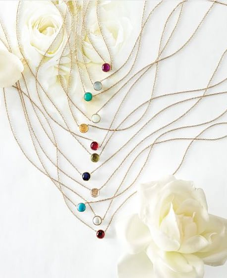 pretty birthstone necklaces