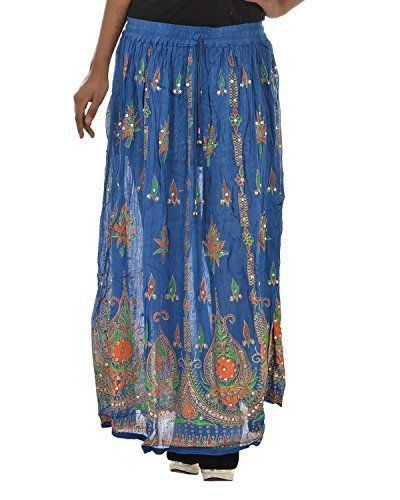 Fashiana Women's Long Skirts Sequins Ankle Length Rayon Indian ...