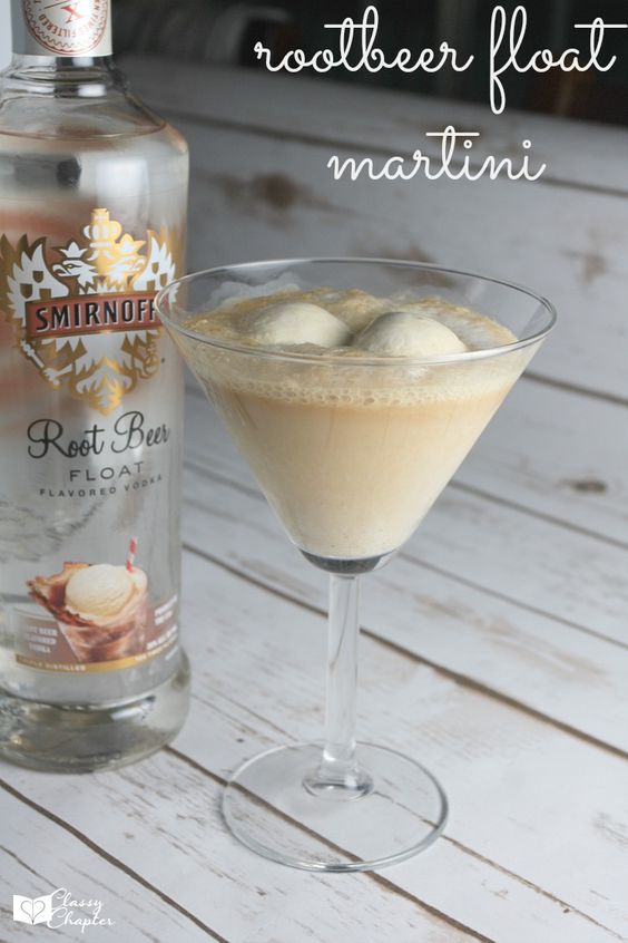 Root beer float martini pinterest summer its you and for Easy vodka drink recipes
