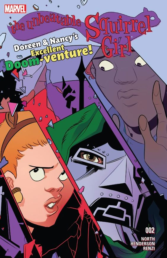 The Unbeatable Squirrel Girl (2015-) #2 Squirrel Girl gets sent back in time and also erased from history. Only her friend Nancy even remembers she existed! So Nancy turns to the only hero she can contact, (on social media), for help in rescuing her: Iron Man. Also a surprise villain shows up from the past! It could be literally any bad guy but it's a good one, I promise. P.S. - it is not Galactus, we already did him.