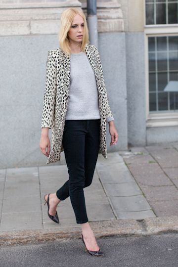 I never knew it until now how badly I apparently want to be Cruella DeVille.    Wingtip Coat - Leopard Linen | Emerson Fry