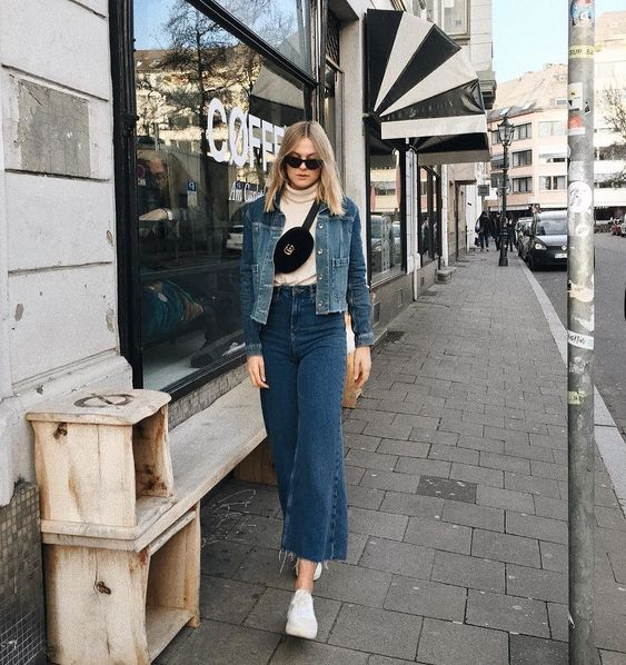 BDG Flood Wide Leg True Blue Jeans | Urban Outfitters | Women's | Bottoms | Jeans via @alessaa_w #UOEurope #UrbanOutfittersEU #UOonYou