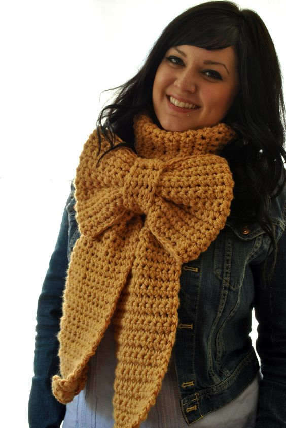 Big Bow Scarf - Crocheted Oversized (Sorry, etsy seller. I'll probably never make it anyway, so your shop is safe.):