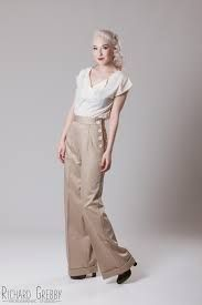 Unique 1920s Style Womens Pants Trousers Knickers Kelaixiang Blue