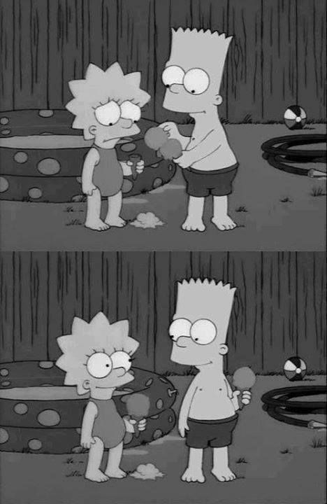 Lisa & Bart ice cream awww big bro :)