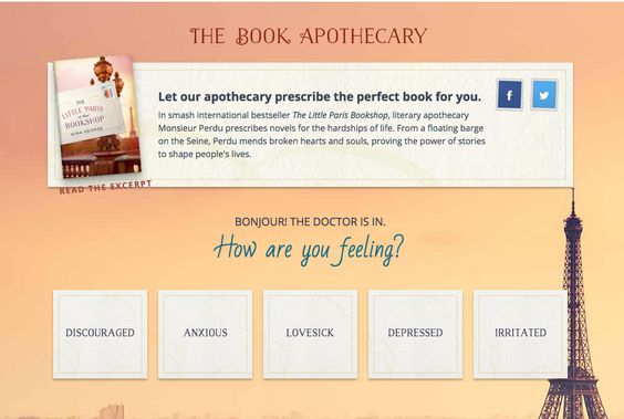 Let our Book Apothecary pick out your next read!