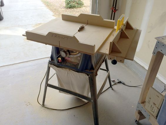 Table Saw Top Sled And Rip Fence Woodworking Pinterest Tops Table Saw And Sled