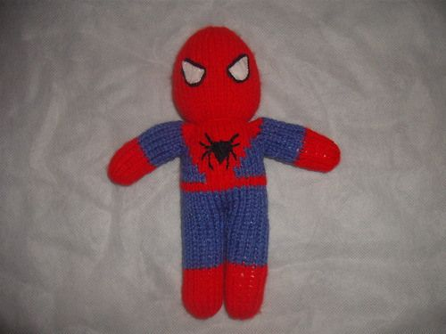 Knitting Pattern Superman Doll : Knitted Spiderman Doll Crafts, Spiderman and Dolls