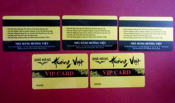 thẻ vip bằng nhựa pvc