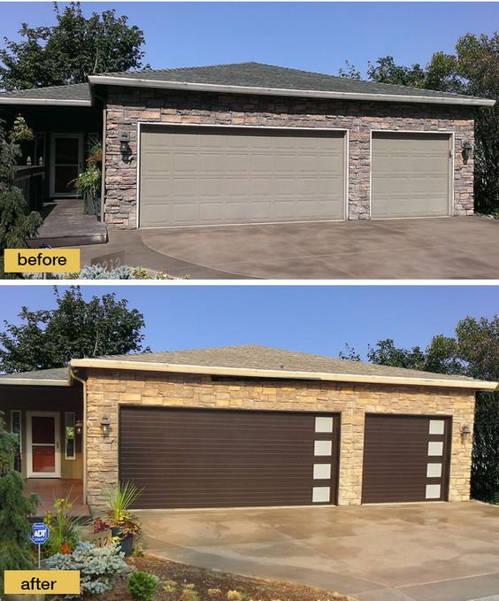 New garage doors from clopay 39 s modern steel collection for Clopay steel garage doors