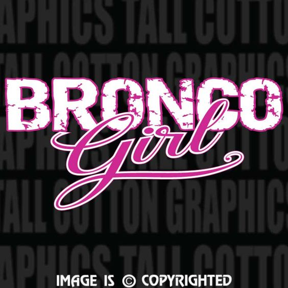 Proud Girl Bronco 4x4 owners, 2 color decal - #EB001